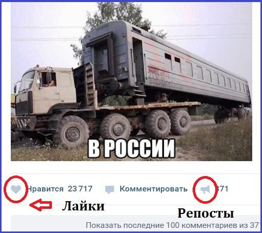 где находятся лайки ВКонтакте
