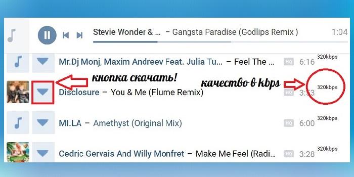 Плагин для скачивания музыки ВКонтакте в Google Chrome