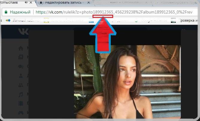 Узнать ID по ссылке из фотографии аватара Вконтакте