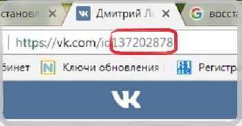 id странички для восстановления доступа Вконтакте.