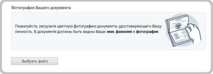 Фото паспорта для тех. поддержки Вконтакте.